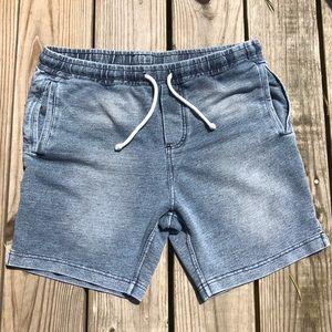 Divided denim colored sweatpant shorts drawstring